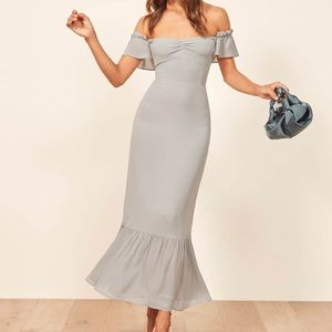 Reformation Butterfly Effect Bridesmaids Dress.